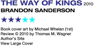 SF REVIEWS NET: The Way of Kings / Brandon Sanderson